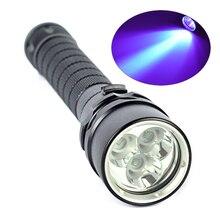 10 Вт Ультрафиолетовый Фонарь 3x XPE Фиолетовый Свет Подводный 100 м УФ Дайвинг Фонарик Факел 395nm-нм
