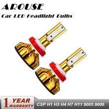 AROUSE Car Headlight H8 H11 LED headlights bulbs H4 H7 HB4/9006 HB3/9005 H1 76W 12000lm Auto Bulb Headlamp white 6500K Light