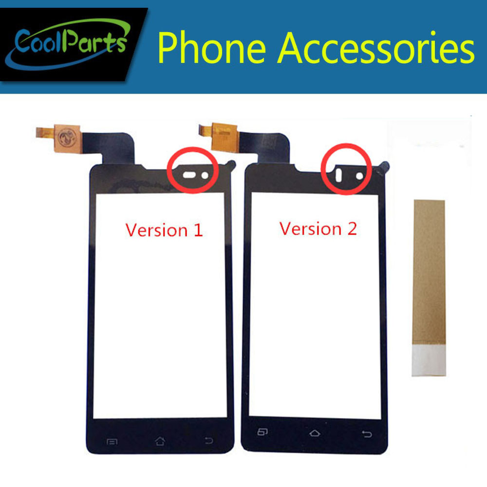 1PC/Lot High Quality For DNS S4003 S4003 innos i6s i3 Touch Screen Digitizer Touch Panel Glass With Tape Black Color