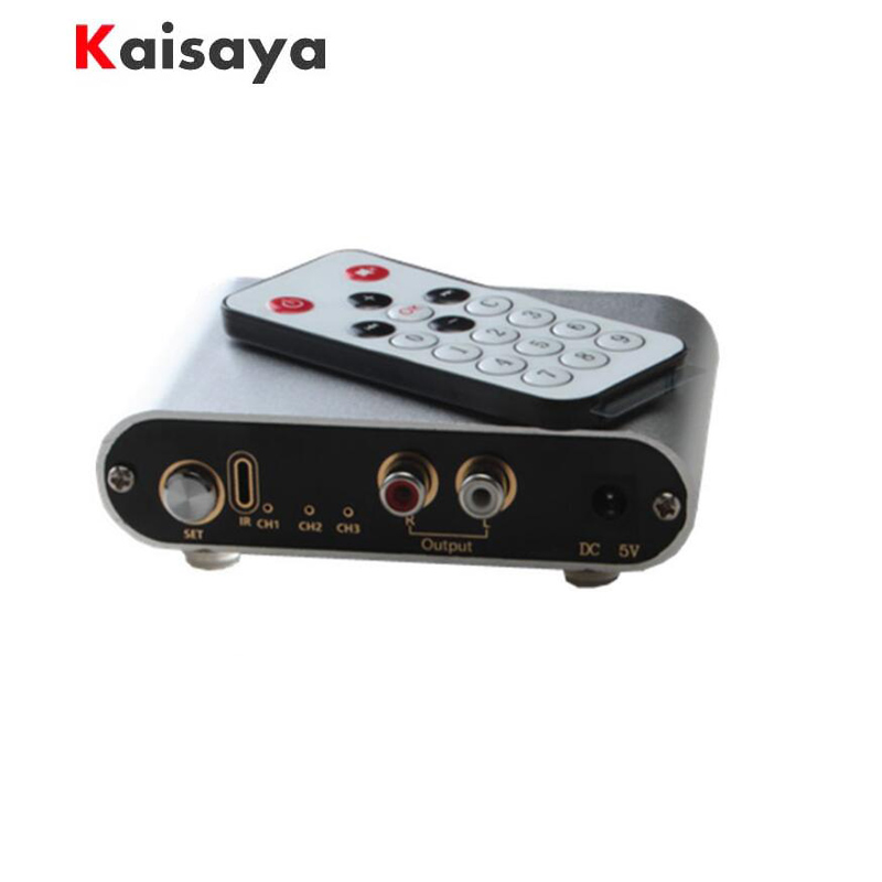 3 Port Input 1 Output / 1 Input 3 Output Two-way Audio Signal Switcher Switch Selector Box Sound Video with Remote Control RCA