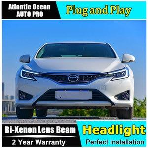 Estilo de coche linterna LED para cabeza para Toyota Reiz faros led 2014-2018 para Mark X Luz de cabeza H7 hid Bi-Xenon lente de haz bajo