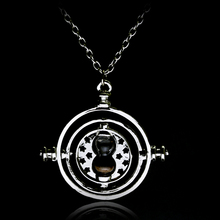 dongsheng Movie Jewelry 2 Colors HP Time Turner Necklace Hermione Granger Rotating Spins Gold Hourglass Nacklace -30
