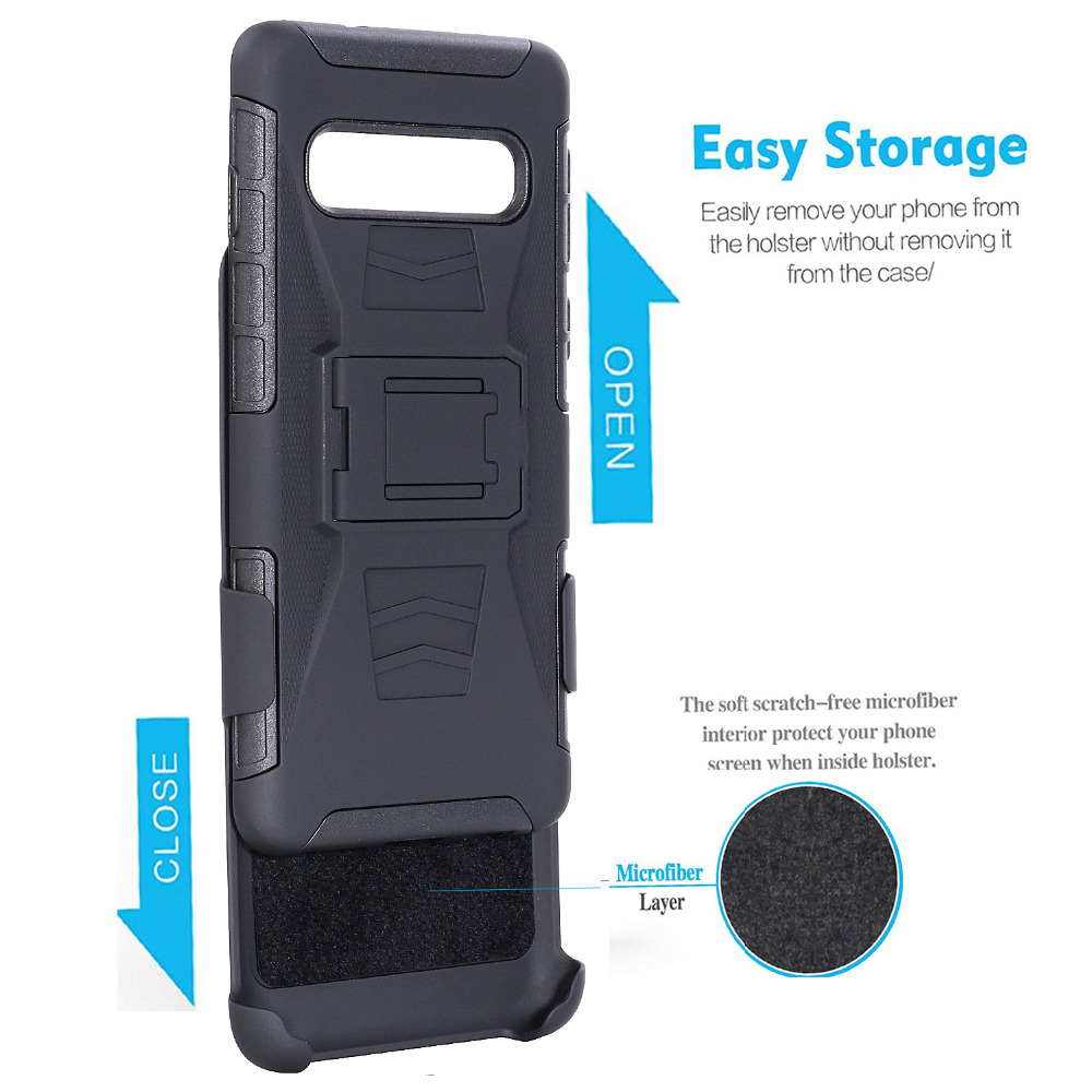 Heavy Duty Holster Defender Swivel Belt Clip Armor Case sFor Samsung S10 Plus S10 Lite S7 S5 S6 Note 3 4 5 J7 Rugged Phone Coque (3)