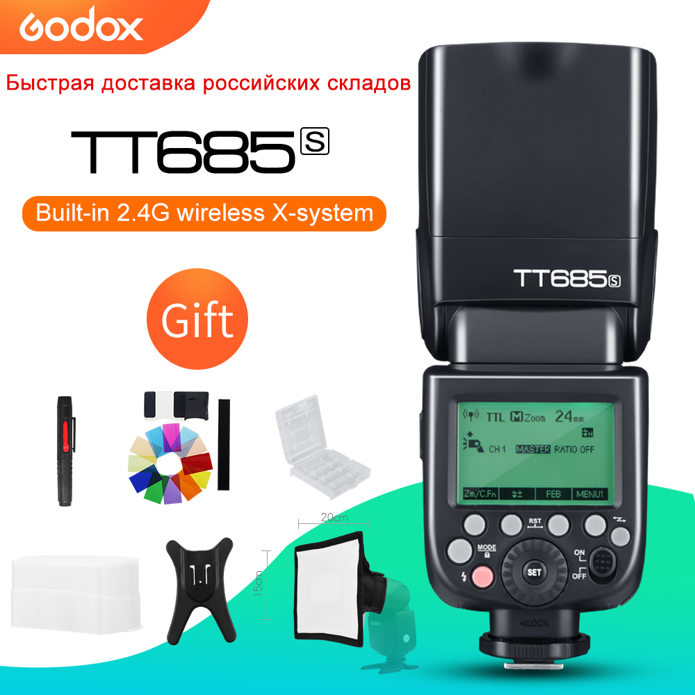 Godox TT685S 2 4G HSS 1 8000s i TTL GN60 Wireless Speedlite Flash for Sony A77II