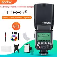 مجموعة هدايا من Godox TT685S 2.4G HSS 1/8000s i TTL GN60 لاسلكية Speedlite Flash for Sony A77II A7RII A7R A58 A9 A99 A6300 A6500 +