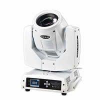 White color 230w 7R beam moving head sharpy disco light with 16 prism dmx dj lighting power con connect for wedding stage show