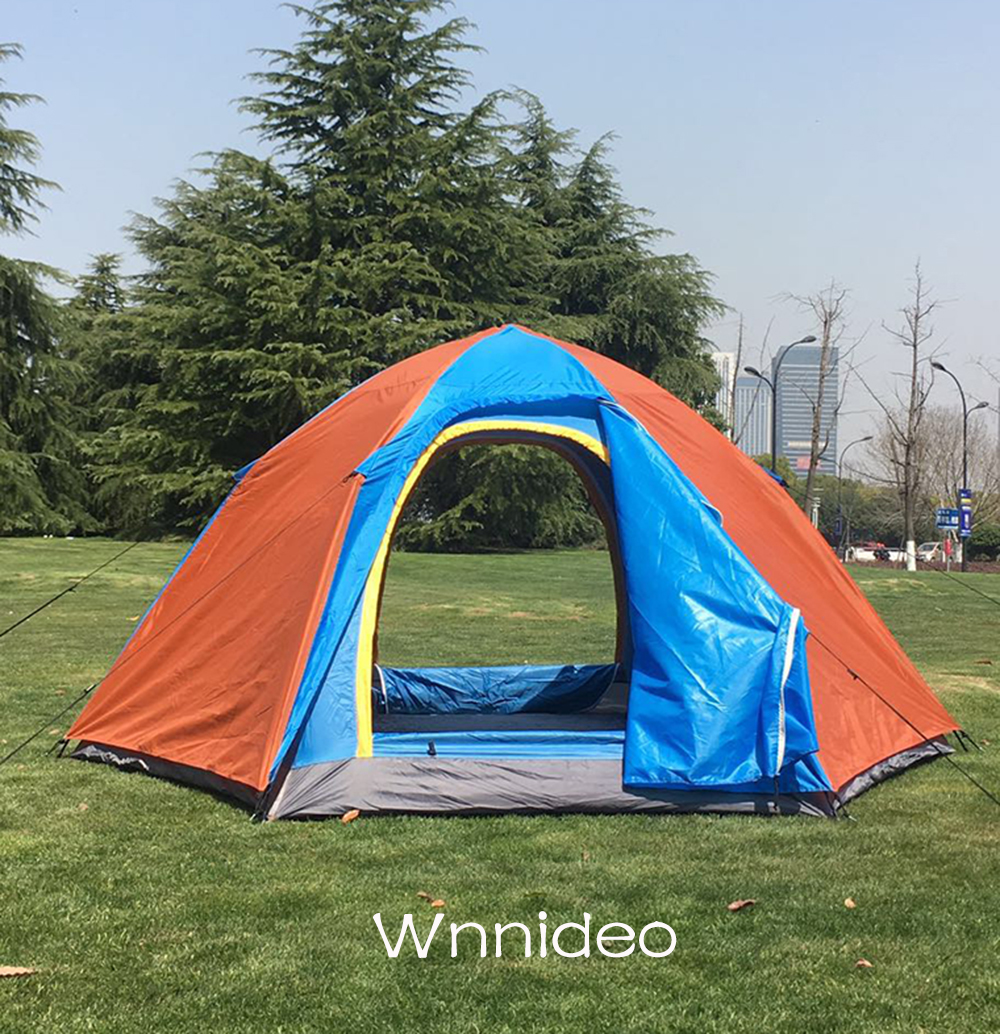Wnnideo Instant Dome Family Tent 6 Person Pop Up Waterproof with Fly in Blue