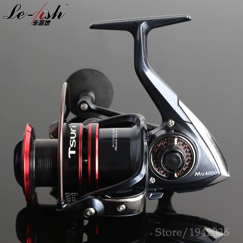 8+1BB Stainless steel Ball Bearings Spinning Fishing Reel 5.2:1 Free shipping High quality Aluminum Spool Anti-twist Line Roller
