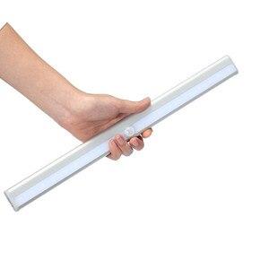 Image 3 - Беспроводной 20 светодиодный USB Перезаряжаемый Ночной светильник с ИК датчиком движения, светильник под шкафом, шкаф, кухонный датчик, светильник, лампа