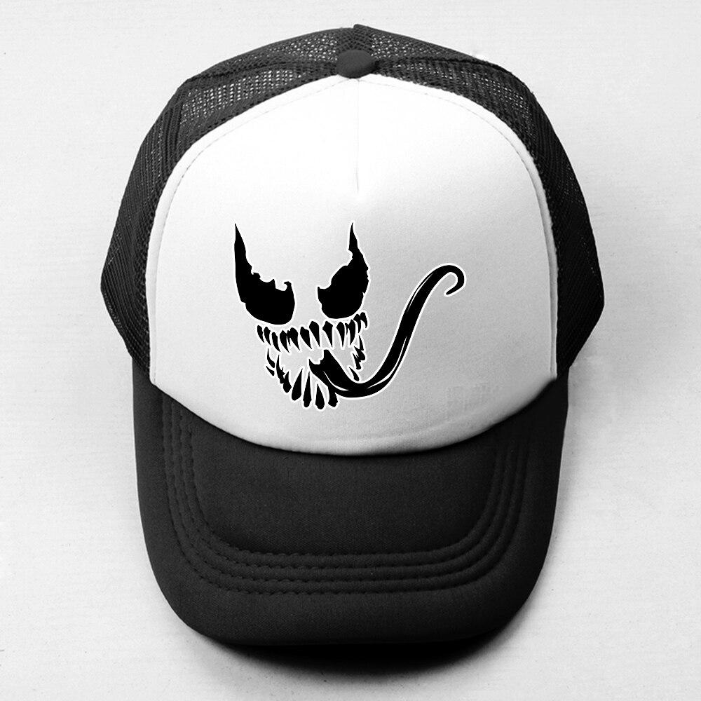Venom Spider-Man Villain Retro Baseball Cap Men Women Attack on Titan Cosplay Boy's Girl's Hat Mesh Snapback Caps Adjustable