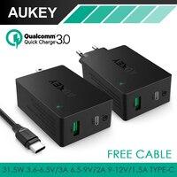 Aukey Wall Charger Qualcomn Quick Charge 3 0 Tech 2 USB Ports EU US Plug Wall