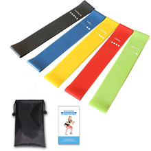 цена 5pcs/Set Resistance Bands Fitness Elastic Band 30cm Natural Latex Mini Sport Gym Workout Expander Training Yoga Pilates Exercise онлайн в 2017 году