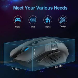 Image 4 - TeckNet Wired Gaming Mouse Ergonomic Mice 6 Button Optical Computer Mouse 2000dpi USB Wired PC Mouse for Computer Laptop PC