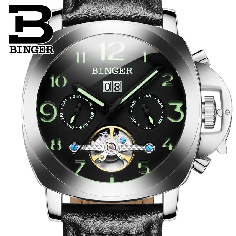 2017 Switzerland luxury men s watchn BINGER brand Mechanical Wristwatches multifunctional font b military b font