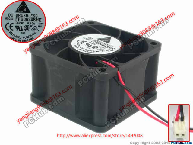 Free Shipping For Delta FFB0624SHE, -T8WY DC 24V 0.040A 3-wire 3-pin connector 60mm Server Cooling Square fan new arrival hot professional 29pcs animal hair cosmetic makeup brushes tool set with black leather cosmetic case2