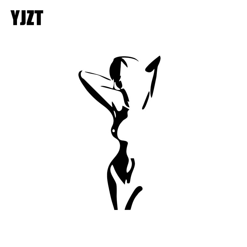 Temperate Yjzt 6.7*12.4cm Artistical Naked Girl Black/silver Vinyl Decals Good Quality Covering The Body Fashion Design C20-0342 Attractive Appearance Automobiles & Motorcycles