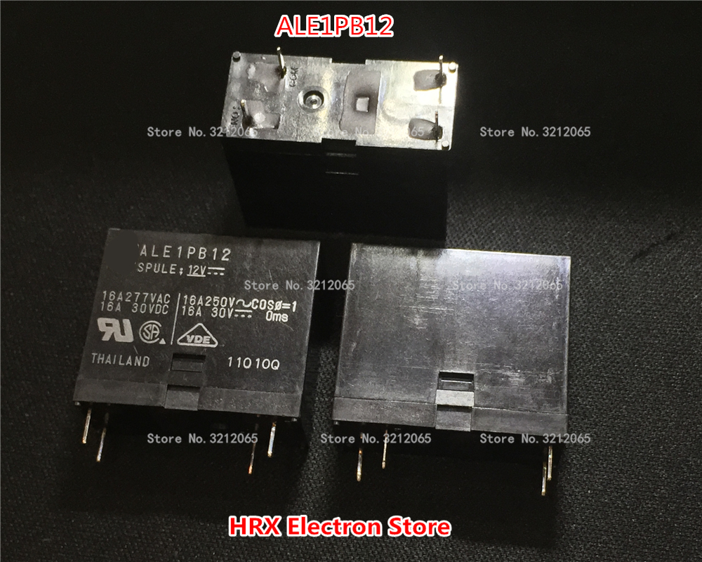 5PCS/lot Relay ALE1PB12 16A 12VDC 4PINS New original