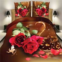 Free Shipping Adult 4pcs Grinding Wool Bedding 3d Sheet Wedding Suite Double 1 5 1 8