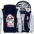 New Hooded Thick Zipper Men Sweatshirts Winter Jackets and Coats Batman Suicide Squad hoodie Anime Harley Quinn Joker