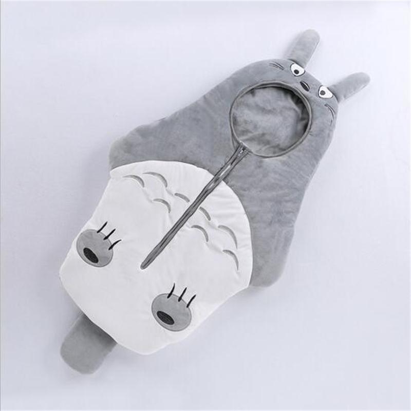 0-1 Y New Autumn Winter Baby Sleeping Bag Newborn Baby Cute Cartoon Totoro Infants Full Moon Cloth Cocoon Type Infant Wrap