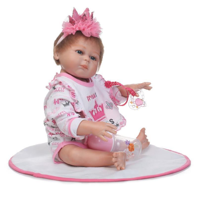 NPK 50 CM corps entier Silicone Reborn bébé poupée fille et garçon enfants jouer maison jeu bain jouet doux réel doux toucher réaliste Reborn - 4