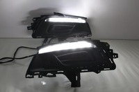 LED DRL daytime running light for chevrolet cruze 2014 15, 2pcs, with dimmer function and moving yellow turn signals