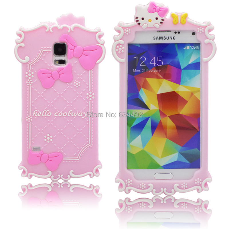 samsung galaxy s5 3d cases. candy lovely 3d hello coolway kitty with bowknot luminous case for samsung galaxy s5 g900 back 3d cases