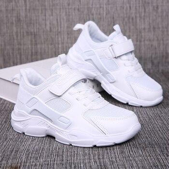 Спортивная обувь ULKNN для мальчиков, на осень, 6, 12, спортивная обувь для детей 15 лет, 10, 9, белые, черные, синие кроссовки для студентов