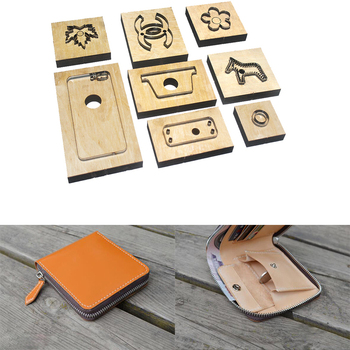 Japan Steel Blade Rule Die Cut Steel Punch Card Coin Bag Cutting Mold Wood Dies for Leather Cutter for Leather Crafts T049