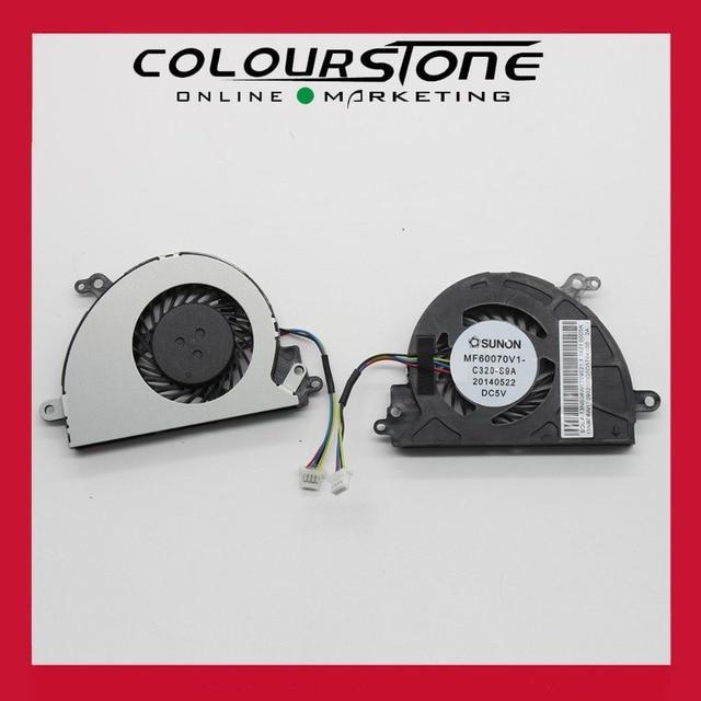 Para asus x453 x453m x403m x553m x553ma x553 k553ma f553m d553m mf60070v1-c320-s9a ventilador de la cpu