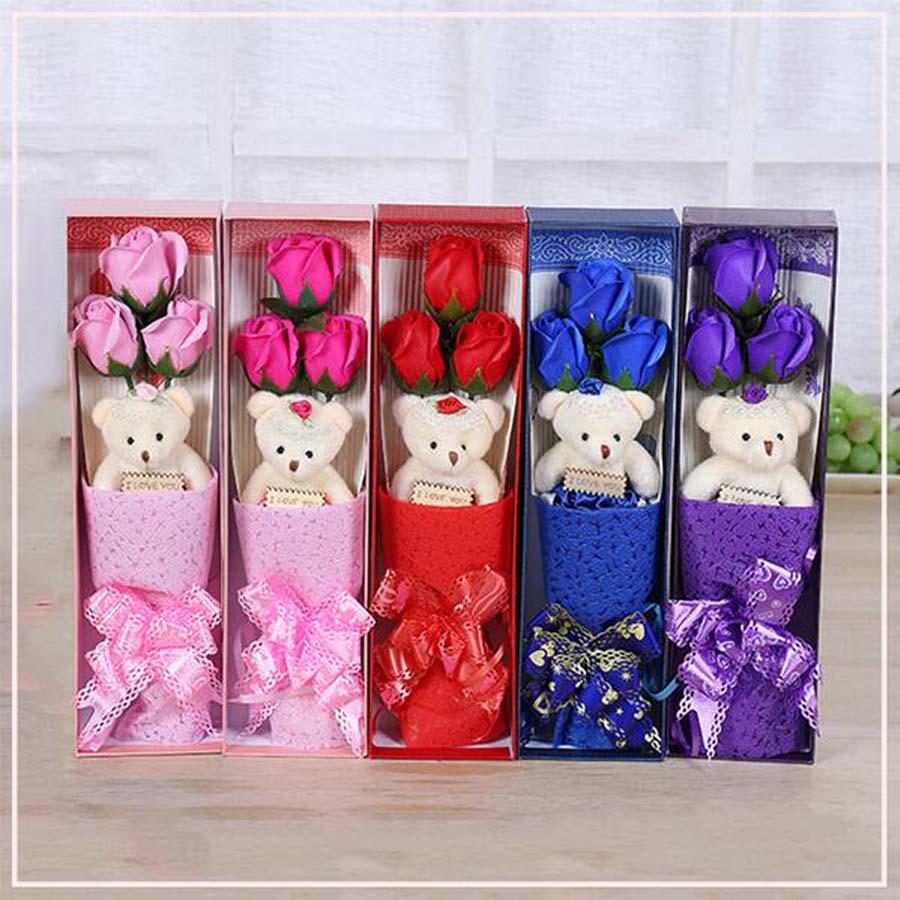 New Creative Handmade Rose Soap Flower&dolls Fragrant