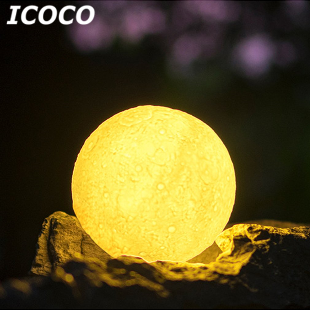 ICOCO USB Rechargeable 3D Moon Lamp With