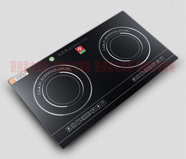 Double induction cooker electric ceramic stove furnace eyes cooktop embedded double hot plate