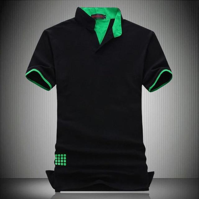 New 2018 fashion short sleeve polo shirt men polo COTTON camisa polo  masculina man plus size 7XL 6XL 5XL 4XL XXXL XXL-M 3 colors 71a0fd5b20a97