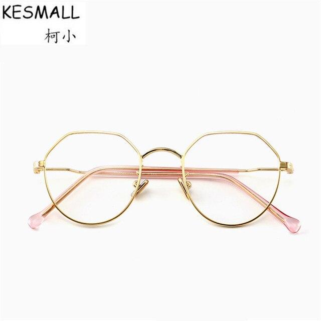 6caebd6ee2de KESMALL 2018 Retro Glasses Frame Men Women Spectacle Irregular Shape  Eyeglasses Frames Vintage Clear Lens Eyewear Oculos BY377