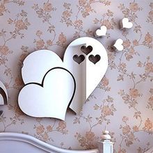 ISHOWTIENDA espejo 3D amor corazones pegatina de pared calcomanía DIY Home Room Art Mural decoración extraíble para dormitorio sala de estar hogar decoración(China)