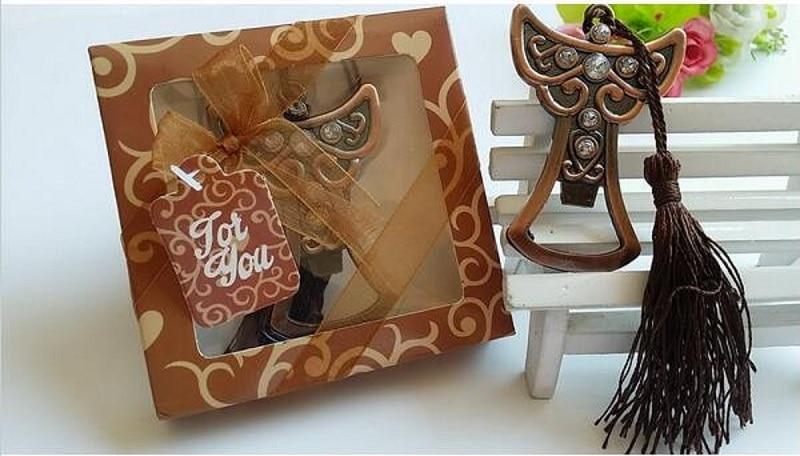 100 pcs Ange Décapsuleur Faveurs De Mariage Cadeaux Pour Les Invités De Mariage Souvenirs De Mariage décoration wen4372