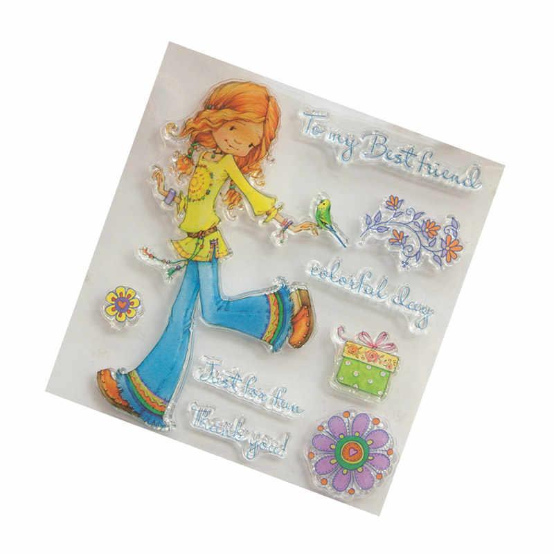 2018 nueva chica a mi mejor amigo transparente sello de silicona transparente para sello DIY álbum de fotos sello claro decorativo