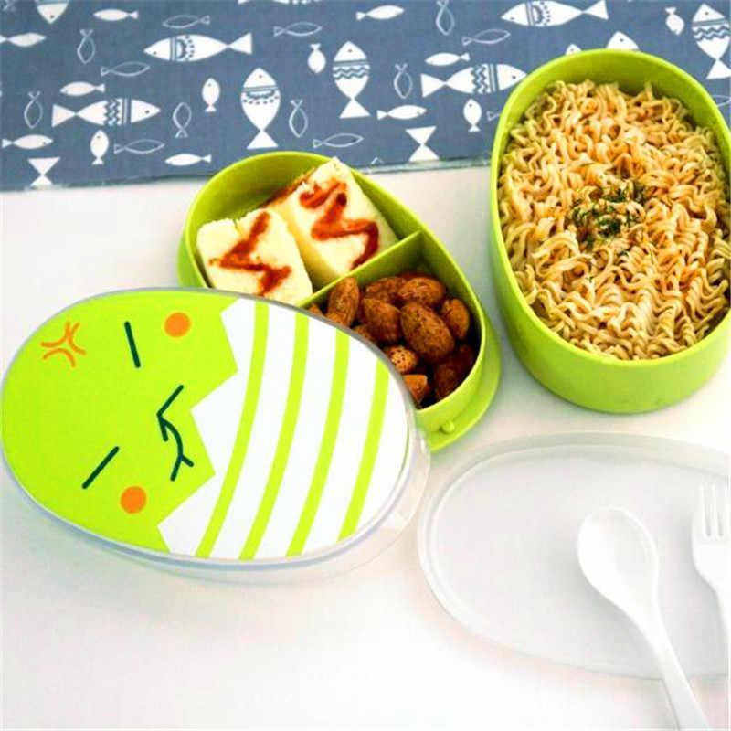 700ml การ์ตูนอาหารกลางวันเพื่อสุขภาพกล่องน่ารักเด็กเตาอบไมโครเวฟกล่อง Bento 2019 นักเรียน Mini อาหารกลางวันร้อนขาย