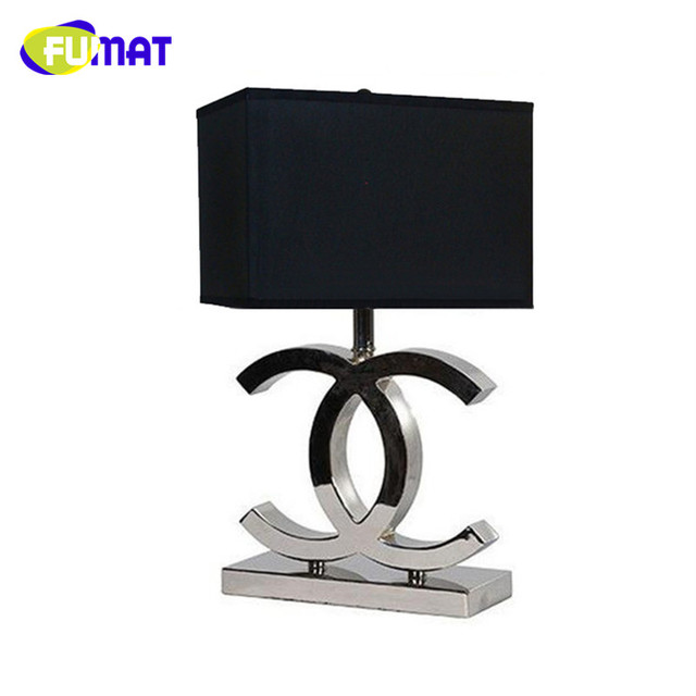 Fumat cc table lamps bedroom bedside light simple fashion fabric fumat cc table lamps bedroom bedside light simple fashion fabric desk light modern stainless steel table aloadofball