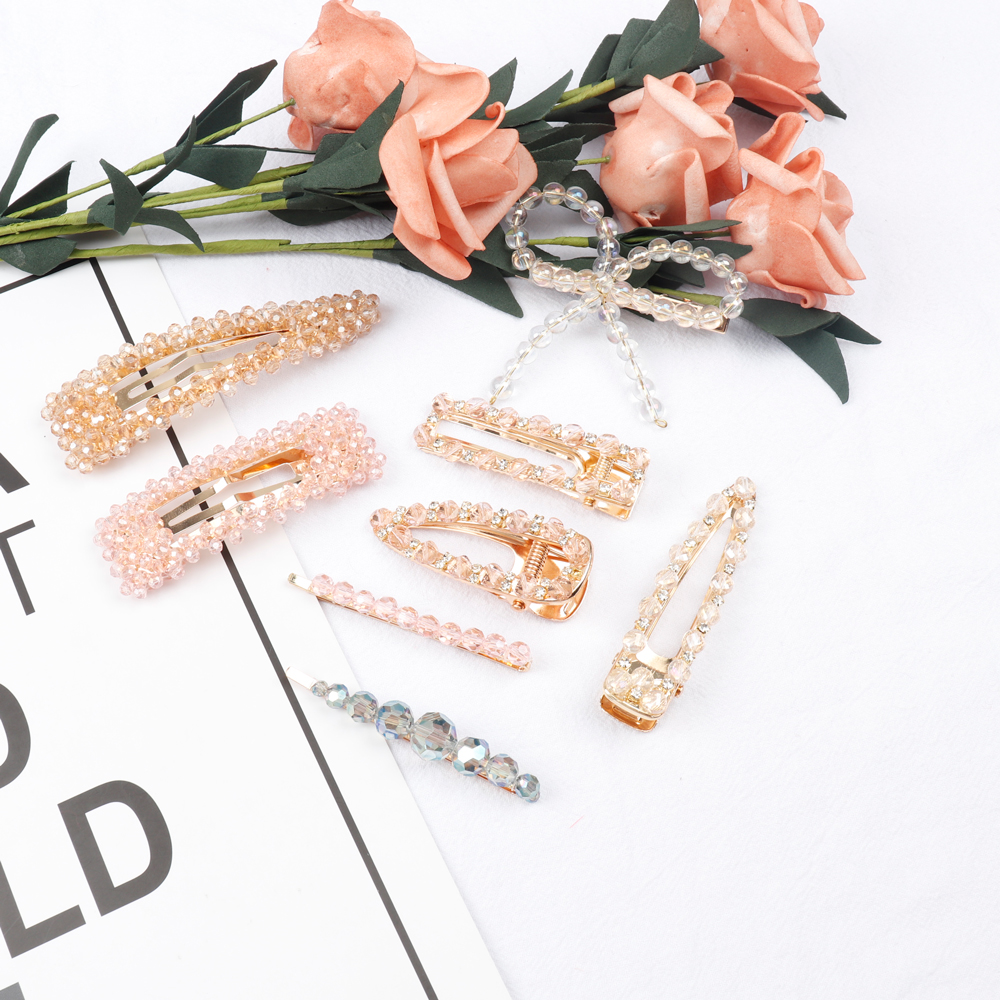 Hair Accessories Princess Rhinestone Hair Clip for Girls Mental Snap BB Crystal Hair Pins Korean Fashion Hairgrips For Women in Women 39 s Hair Accessories from Apparel Accessories
