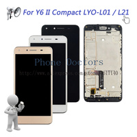 5.0'' Full LCD DIsplay + Touch Screen Digitizer Assembly With Frame For Huawei Y6 II Compact LYO L01 LYO L21 ; New ; Tracking