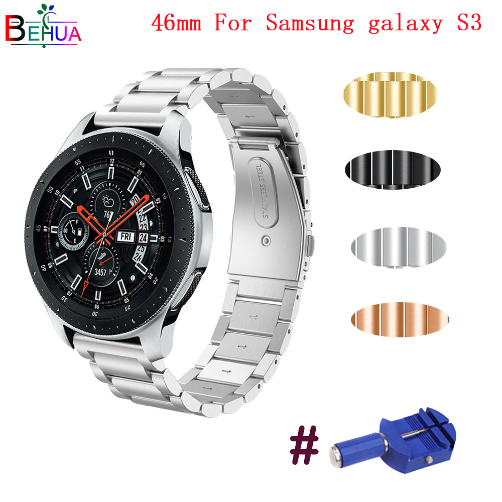 Stainless Steel Wristband For Samsung Galaxy Watch 46mm gear s3 frontier classic watch strap With Adjust Repair Tool watchbands Stainless Steel Wristband For Samsung Galaxy Watch 46mm gear s3 frontier classic watch strap With Adjust Repair Tool watchbands