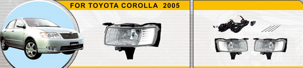 Fog lights for Toyota Corolla 2005 1 set Car accessories Styling Car Lights Decoration automotive lamp car styling fog lamps for bmw e91 2005 06 07 08 09 10 11 12 12 v 1 set fog lights