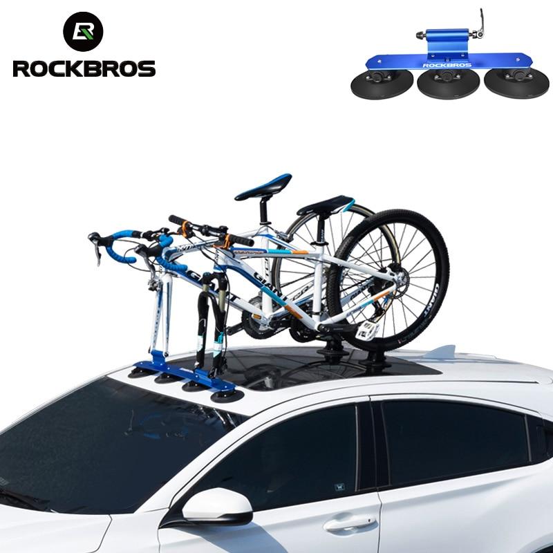 ROCKBROS portant de vélo Toit-Top Aspiration Vélo De Voiture Rack Transporteur installation rapide Sucker barres de toit Pour vélo de montagne vtt Vélo De Route