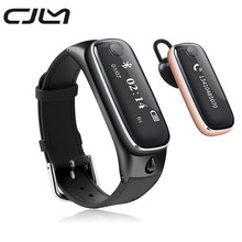 Cjlm Überlegene M6 SmartWatch Armband Fitness Tracker Sport Pedometer Smartband Bluetooth Headset Kopfhörer Für Android IOS Telefon