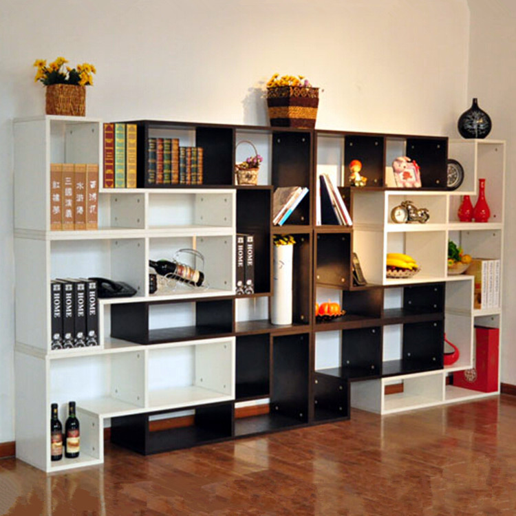 Boutique fashion living room shelf storage rack Office bookcase - living room display cabinets