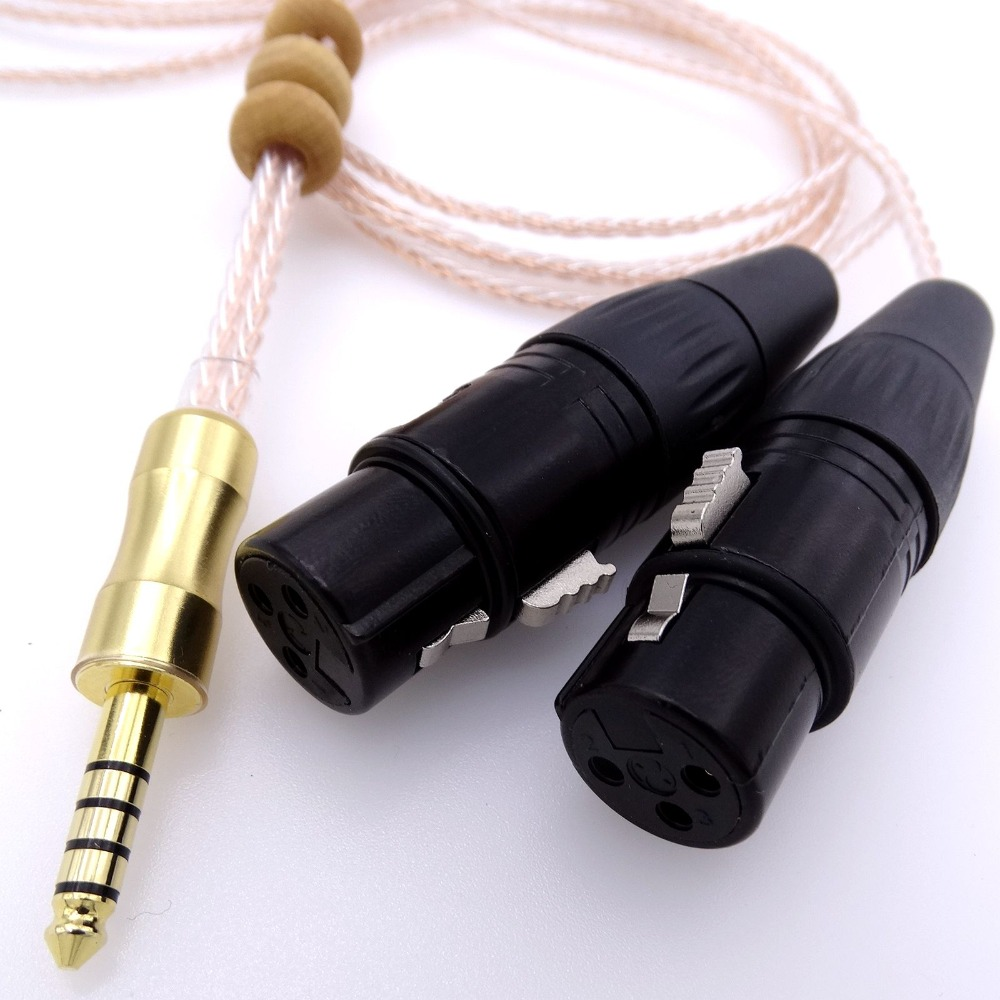 1Meter 4.4mm TO 2x 3pin XLR Female Audio Adapter Cable For Sony NW-WM1Z 1A MDR-Z1R TA-ZH1ES PHA-2A цена