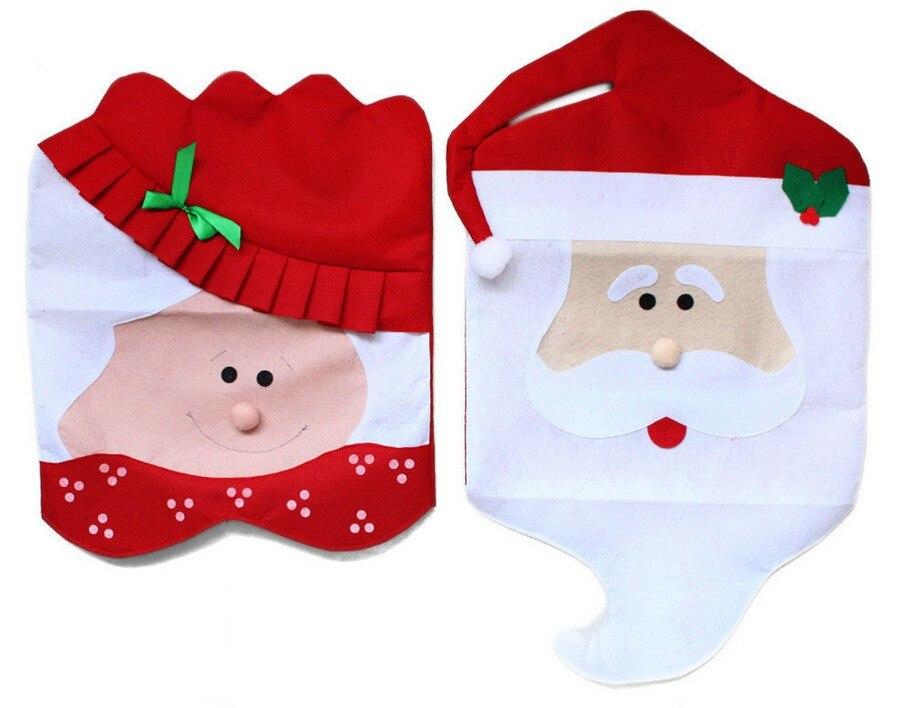 1 Stücke Schöne Mr & Mrs Weihnachtsmann Weihnachten Esszimmer Stuhl ...