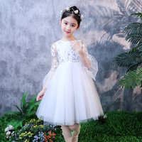 summer girl party dress wedding birthday formal flower child mesh dresses junior kids prom gown vestido clothes for 4 12 years